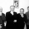Уладзімір Някляеў з Рыгорам Барадуліным, Карласам Шэрманам і Уладзімірам Арловым.