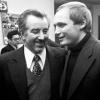Уладзімір Някляеў з Рыгорам Барадуліным.