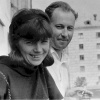 Аксана Сенатовіч з Міколам Прашковічам у Менску летам 1967 г.