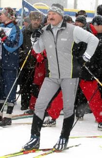 На лыжне...