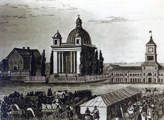 Гомельская ратуша (справа)