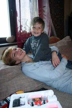 С сыном Даней