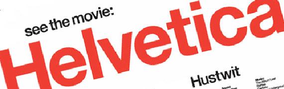 Шрыфт быў створаны на аснове Akzidenz-Grotesk (1896) і Schelter-Grotesk (1880) у швейцарскай кампаніі Haas'sche Schriftgiesserei у 1957 годзе і першапачаткова зваўся Neue Haas Grotesk. У 1960 годзе назва шрыфта прыйшлося змяніць па ўказанні галаўной кампаніі Stempel AG. Першапачатковая прапанаваная назва была Helvetia — Гельвецыя, састарэлая лацінская назва Швейцарыі, аднак у выніку было прынята Helvetica, што ў перакладзе з лацінскага азначае «швейцарская». Цяпер шрыфт прыналежыць Linotype. Год стварэння фільма - 2007