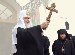 25 сентября 2009 г. после богослужения в Свято-Духовом соборе белорусской столицы Патриарх благословил паству, пришедшую его приветствовать