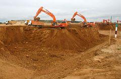 На Островецкой площадке начали копать котлован для белорусской АЭС. Фото БелТА.
