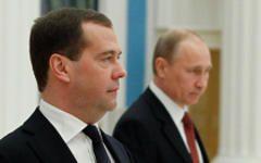 Дмитрий Медведев и Владимир Путин © РИА Новости, Дмитрий Астахов