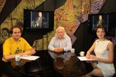 В студии телеканала «ВОТ!» на Васильевском острове, подготовка.