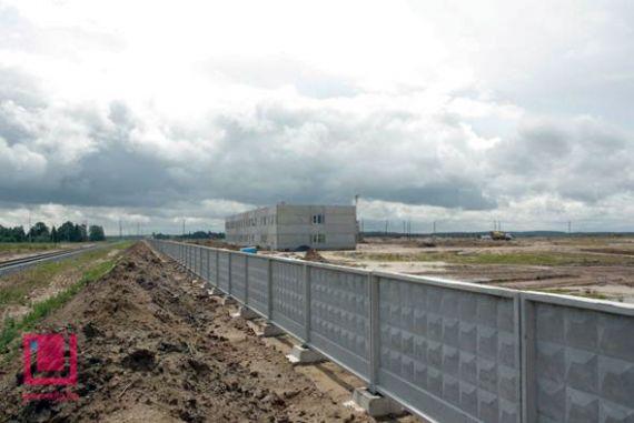 Вокруг площадки Островецкой АЭС начали возводить ограждение