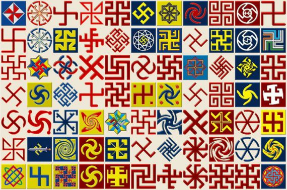 Свастикой (коловратом) оформлена половина всех национальных русских орнаментов