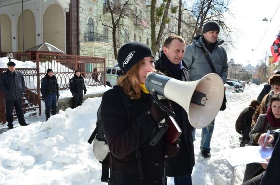 У Кіеве патрабавалі вызваліць затрыманых у Мінску украінцаў