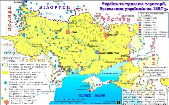 Территория Украины до 1 мировой войны