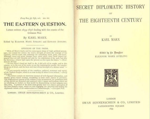 Marx Karl. Secret diplomatic history of eigtheen century. London, 1899.